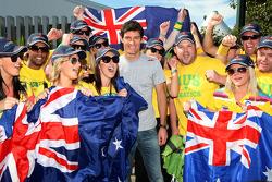 Mark Webber, Red Bull Racing avec his fan club