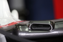 Le F duct, dispositif aérodynamique sur la BMW Sauber F1 Team, détail