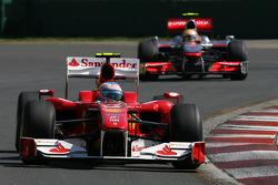 Fernando Alonso, Scuderia Ferrari et Lewis Hamilton, McLaren Mercedes