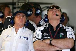 Sir Jackie Stewart, RBS Representitive and Ex F1 World Champion, Patrick Head, WilliamsF1 Team, Dire