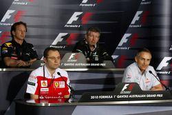 Christian Horner, Red Bull Racing, Sporting Director, Stefano Domenicali Ferrari General Director, Ross Brawn Team Principal, Mercedes GP, Martin Whitmarsh, McLaren, Chief Executive Officer