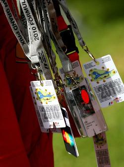 F1 paddock passes