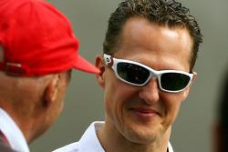 Niki Lauda et Michael Schumacher, Mercedes GP