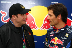 John Travolta, Actor et Mark Webber, Red Bull Racing