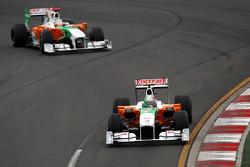 Vitantonio Liuzzi, Force India F1 Team Adrian Sutil, Force India F1 Team