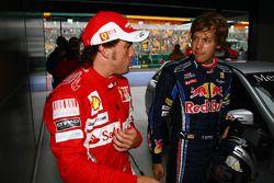 Фернандо Алонсо, Scuderia Ferrari и Себастьян Феттель, Red Bull Racing