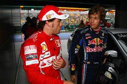 Fernando Alonso, Scuderia Ferrari et Sebastian Vettel, Red Bull Racing