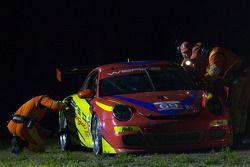 #69 WERKS II Racing Porsche 911 GT3 Cup: Robert Rodriquez, Galen Bieker, Cory Friedman stopped on th