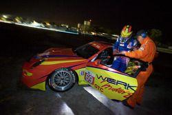 #69 WERKS II Racing Porsche 911 GT3 Cup: Robert Rodriquez, Galen Bieker, Cory Friedman stopped on the track