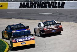 Michael McDowell, Prism Motorsports Toyota, Travis Kvapil, Front Row Motorsports with Yates Racing F
