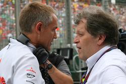 Martin Whitmarsh, McLaren, Président et Norbert Haug, Mercedes, Chef du Sport automobile