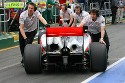 The rear of the McLaren
