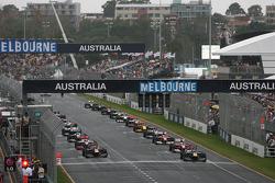 Start, Sebastian Vettel, Red Bull Racing, Mark Webber, Red Bull Racing