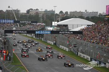 The start of last year's Australian GP