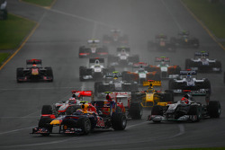 Mark Webber, Red Bull Racing au Départ de la course