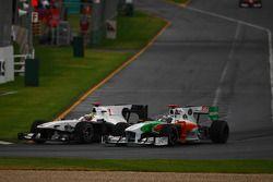 Педро де ла Роса, BMW Sauber F1 Team и Адриан Сутиль, Force India F1 Team