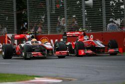 Льюис Хэмилтон, McLaren Mercedes и Лукас ди Грасси, Virgin Racing