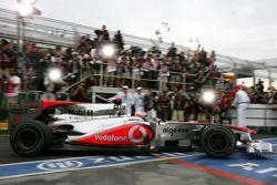 Race winner Jenson Button, McLaren Mercedes