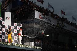 Podium: 2e Robert Kubica, Renault F1 Team