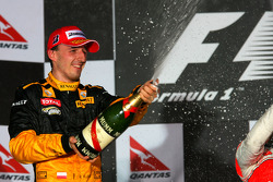vainqueur Jenson Button, McLaren Mercedes avec 3e Felipe Massa, Scuderia Ferrari