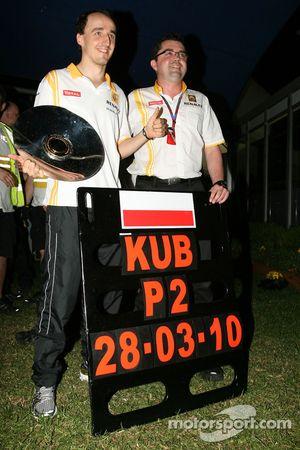 Robert Kubica, Renault F1 Team and Eric Boullier, Team Principal, Renault F1 Team