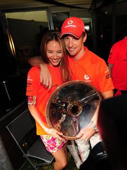 Jessica Michibata et Jenson Button, McLaren Mercedes