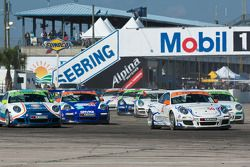 #4 Maxwell Paper Racing: Kendall Smith, #44 GMG Racing: Brent Holden, #50 Autometrics Motorsports: Gary Pennington