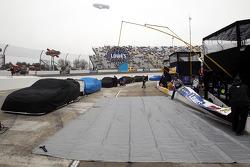 La pluie tombe sur le Martinsville Speedway