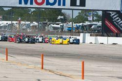 #21 Inspire Motorsports Elan DP02: Charlie Shears, #12 Eurosport Racing Elan DP02: Matt Downs, #8 Primetime Race Group Elan DP02: Anthony Nicolosi