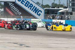 #79 Eurosport Racing Elan DP02: Lucas Downs, #21 Inspire Motorsports Elan DP02: Charlie Shears, #8 P