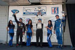 #21 Inspire Motorsports Elan DP02: Charlie Shears #4 Eurosport Racing Elan DP02: Antonio Downs, #13 Inspire Motorsports Elan DP02: Gary Gibson
