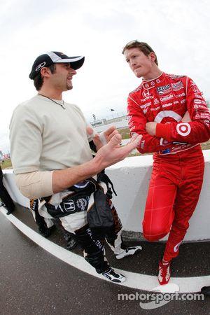 Alex Tagliani, FAZZT Race Team and Scott Dixon, Target Chip Ganassi Racing
