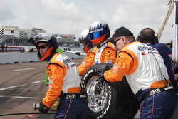 KV Racing Technology team members ready for a pit stop