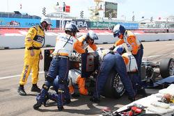 Pit stop for Ernesto Viso, KV Racing Technology