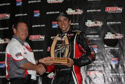 Podium: second place Justin Wilson, Dreyer & Reinbold Racing