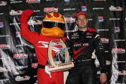 Podium: race winner Will Power, Team Penske