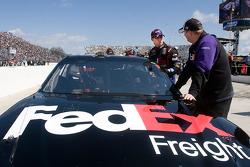 Denny Hamlin, Joe Gibbs Racing Toyota avec Mike Ford