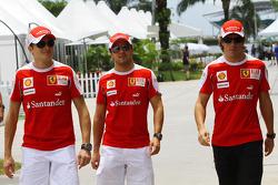 Giancarlo Fisichella, Test Driver, Scuderia Ferrari, Felipe Massa, Scuderia Ferrari, Fernando Alonso, Scuderia Ferrari