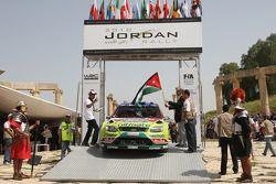 Mikko Hirvonen et Jarmo Lehtinen, Ford Focus RS WRC08, BP Ford Abu Dhabi World Rally Team aux ordres