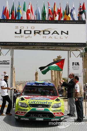 Jari-Matti Latvala et Miikka Anttila, Ford Focus RS WRC08, BP Ford Abu Dhabi World Rally Team aux or