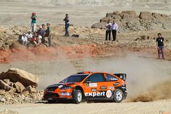 Henning Solberg et Ilka Minor, Ford Focus RS WRC 08, Stobart VK M-Sport Ford Rally Team