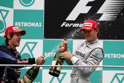 Podium: 1. Sebastian Vettel, Red Bull Racing; 3. Nico Rosberg, Mercedes GP