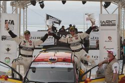 Podium: third place Petter Solberg and Philip Mills