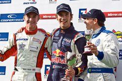 Jean-Eric Vergne, Oli Webb and Adrino Buzaid celebrating on the podium