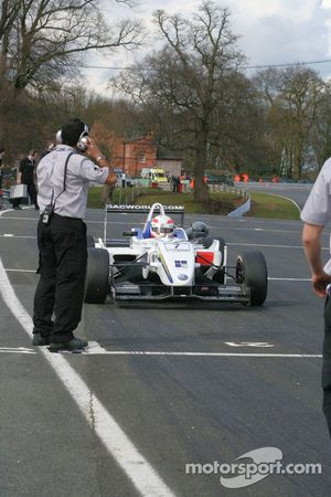 Alex Brundle lines up