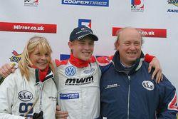 Rupert Svendsen-Cook's and his proud parents