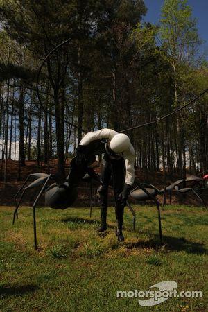 Interessante sculpturen in Barber Motorsports Park