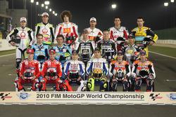 Sesión de fotos de pilotos de MotoGP para la temporada 2010