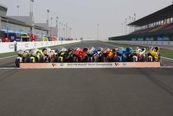Sesión de fotos de las motos de MotoGP para la temporada 2010