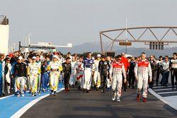 Séance photo des pilotes Le Mans Series: les pilotes arrivent